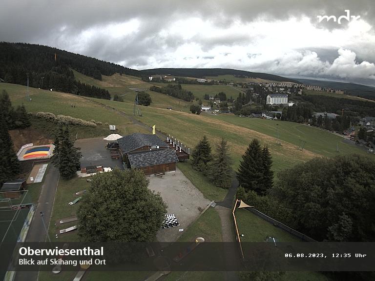 Kurort Oberwiesenthal::Blick auf den Skihang