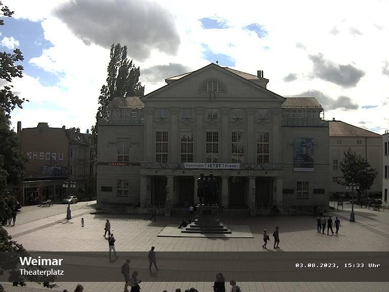Theaterplatz in Weimar; Rechte: MITTELDEUTSCHER RUNDFUNK