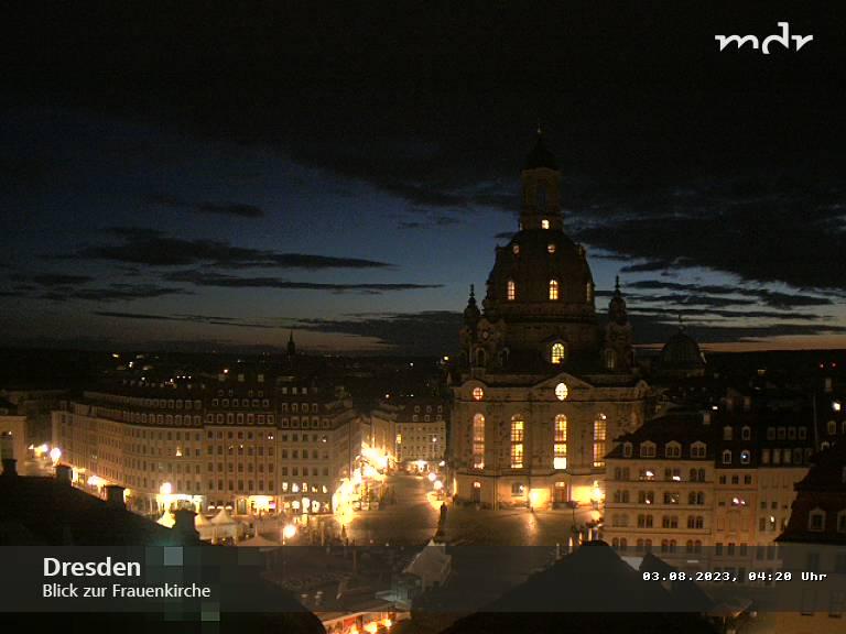 Dresden: Blick auf die Frauenkirche
