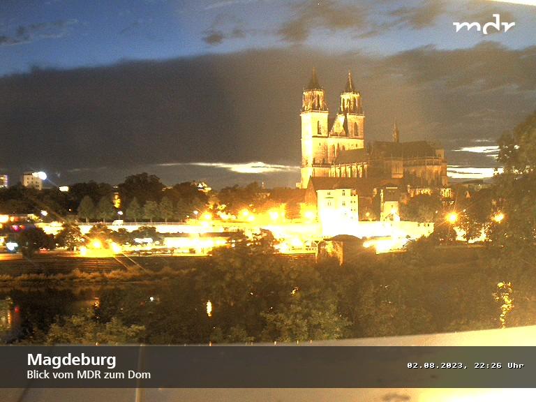 Blick vom MDR Landesfunkhaus zum Magdeburger Dom; Rechte: MITTELDEUTSCHER RUNDFUNK